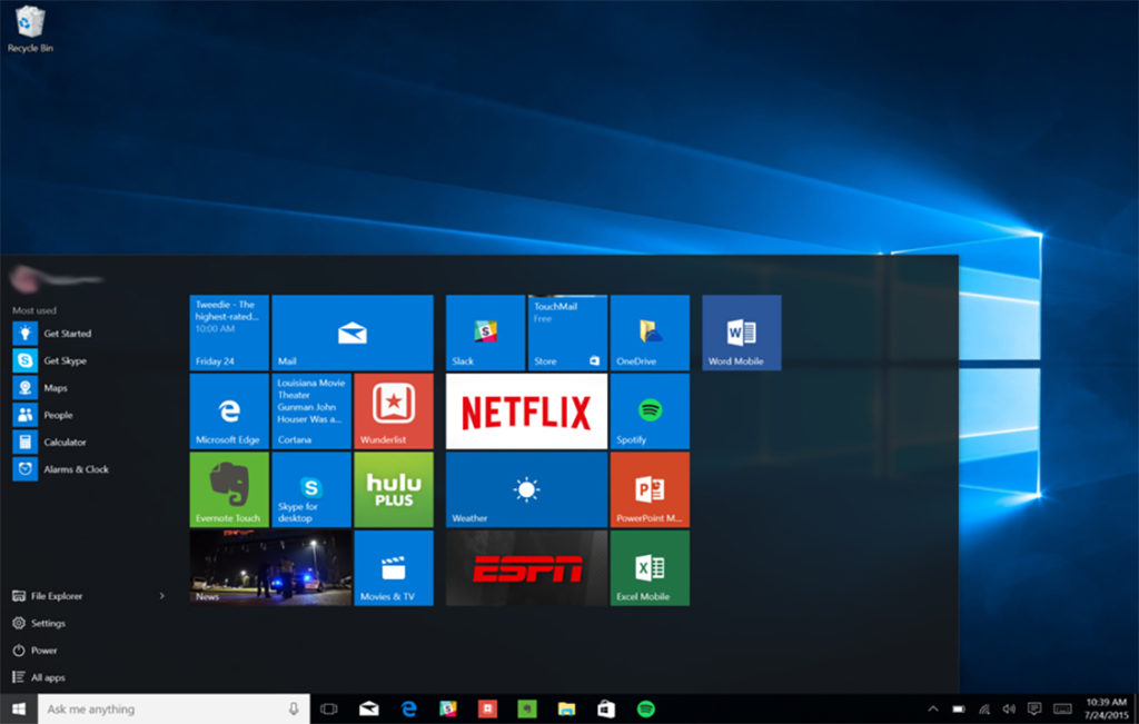 Windows 10 is a personal computer operating system developed and released by Microsoft as part of the Windows NT family of operating systems. It was released on July 29, 2015. It is the first version of Windows that receives ongoing feature updates